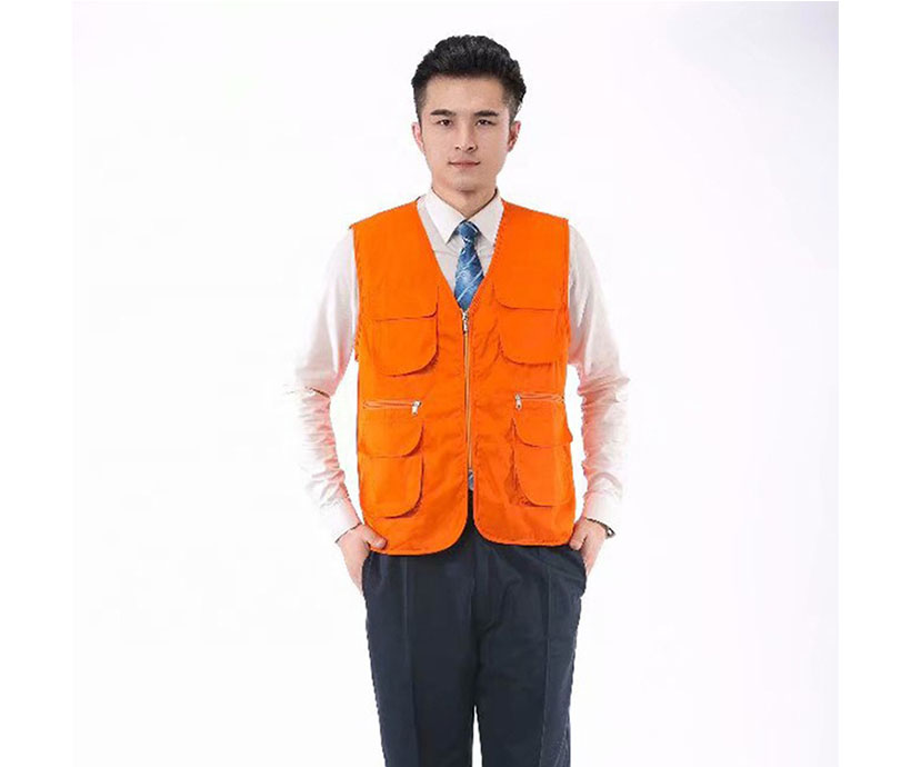 High quality multi pockets slim fit Volunteer men's sleeveless work vests
